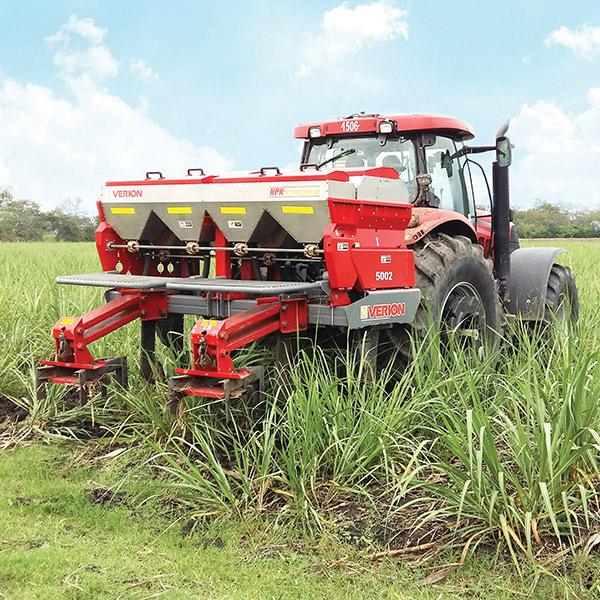 Incorporador de fertilizante granulado