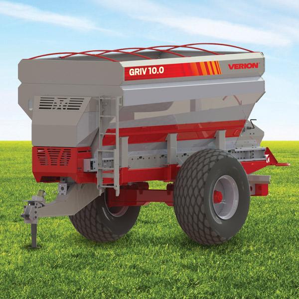 Griv 10.0 Band Fertilizar Spreader, Capacity 1000 l
